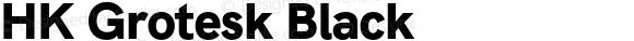 HK Grotesk Black