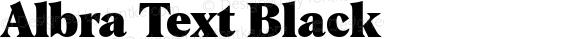 Albra Text Black