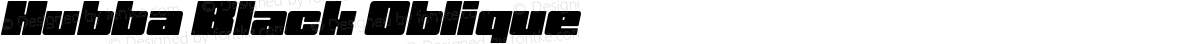 Hubba Black Oblique