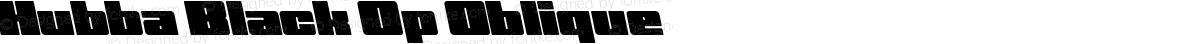 Hubba Black Op Oblique