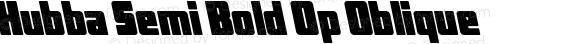 Hubba Semi Bold Op Oblique