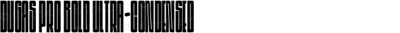 Dugas Pro Bold Ultra-condensed