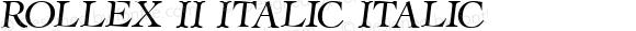 Rollex II Italic