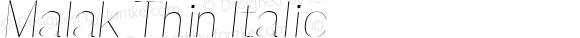 Malak Thin Italic