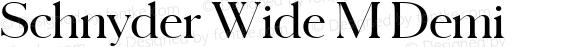 Schnyder Wide M