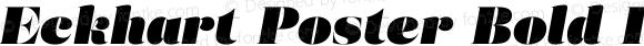 Eckhart Poster Bold Italic