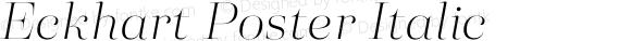 Eckhart Poster Italic