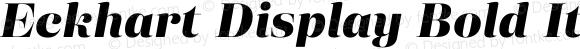Eckhart Display Bold Italic