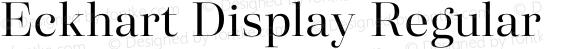 Eckhart Display Regular