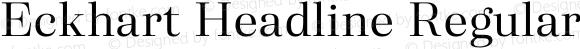Eckhart Headline Regular