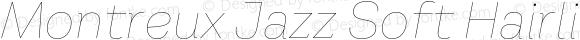 Montreux Jazz Soft Hairline Italic