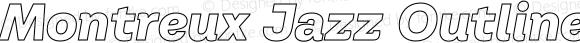 Montreux Jazz Outline Italic