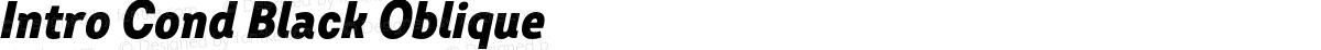 Intro Cond Black Oblique