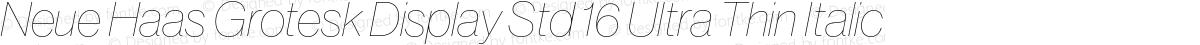 Neue Haas Grotesk Display Std 16 Ultra Thin Italic