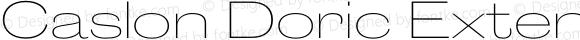 Caslon Doric Extended Thin