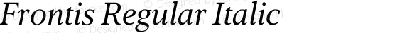 Frontis Regular Italic