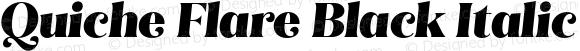 Quiche Flare Black Italic