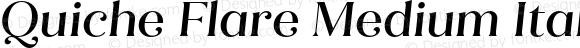 Quiche Flare Medium Italic