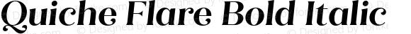 Quiche Flare Bold Italic