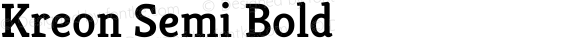 Kreon Semi Bold