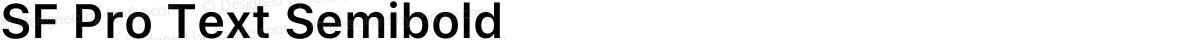 SF Pro Text Semibold