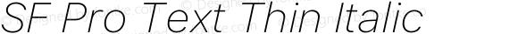 SF Pro Text Thin Italic
