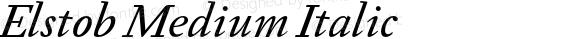 Elstob Medium Italic