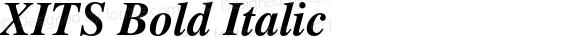 XITS Bold Italic