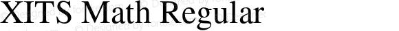 XITS Math Regular