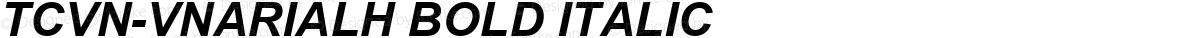 TCVN-VnArialH Bold Italic