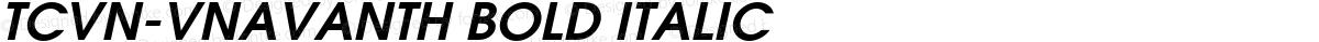 TCVN-VnAvantH Bold Italic
