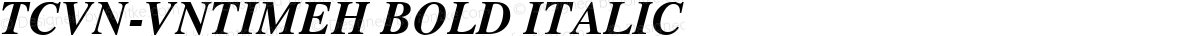 TCVN-VnTimeH Bold Italic