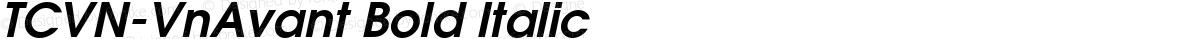 TCVN-VnAvant Bold Italic