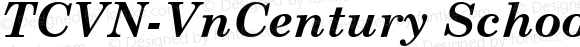TCVN-VnCentury Schoolbook Bold Italic