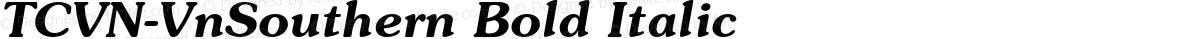 TCVN-VnSouthern Bold Italic