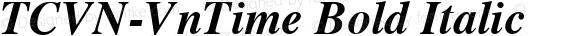TCVN-VnTime Bold Italic