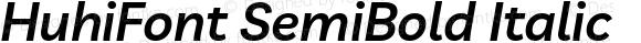 HuhiFont SemiBold Italic
