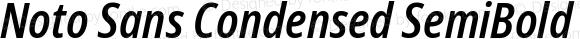 Noto Sans Condensed SemiBold Italic