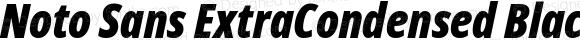 Noto Sans ExtraCondensed Black Italic