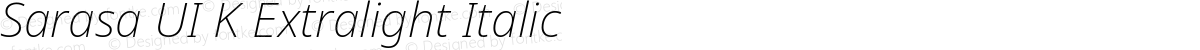 Sarasa UI K Extralight Italic