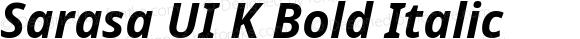 Sarasa UI K Bold Italic