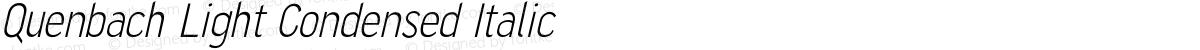 Quenbach Light Condensed Italic
