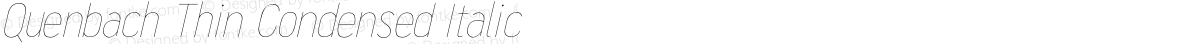Quenbach Thin Condensed Italic