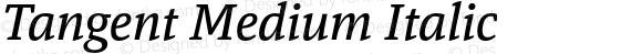 Tangent Medium Italic