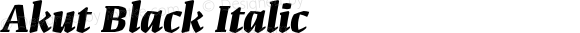 Akut Black Italic