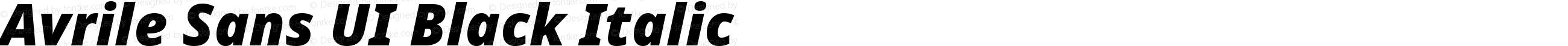 Avrile Sans UI Black Italic