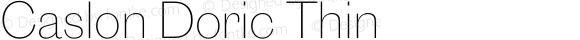 Caslon Doric Thin