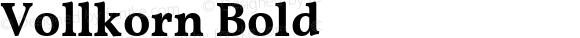 Vollkorn Bold