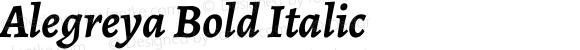 Alegreya Bold Italic