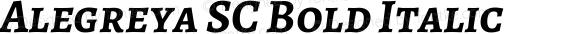 Alegreya SC Bold Italic